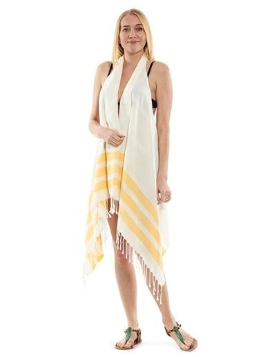 Peschtemall Plaj Elbisesi Sarı